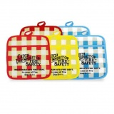 "Pot Holders 7"" x 7"" Plaid (Custom)"