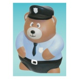 Police Bear Stress Relievers (Custom)