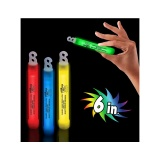 Neon Glow Sticks - Fire Safety Theme (Stock)