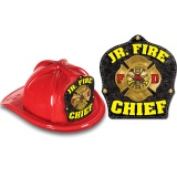 DELUXE Fire Hats - Jr. Fire Chief Yellow / Black Design (Stock)