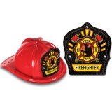 DELUXE Fire Hats - Firefighter Design (Stock)