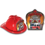DELUXE Fire Hats - Fire Truck Design (Stock)