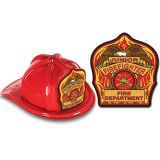 DELUXE Fire Hats - Jr. Firefighter Design (Stock)
