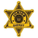 Stick-On Junior Sheriff Badges (Stock)