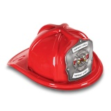 DELUXE Plastic Fire Hats - FD Silver Shield & Maltese Design (Custom)