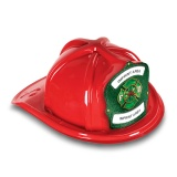 DELUXE Plastic Fire Hats - FD Green Shield & Maltese Design (Custom)