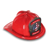 DELUXE Plastic Fire Hats - Patriotic Maltese Design (Custom)