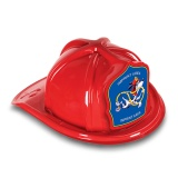 DELUXE Plastic Fire Hats - Dalmatian Blue Shield Design (Custom)
