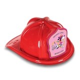 DELUXE Plastic Fire Hats - Dalmatian Pink Shield Design (Custom)