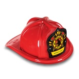 DELUXE Plastic Fire Hats - Firefighter Maltese Design (Custom)