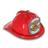 DELUXE Plastic Fire Hats - FD Gold & Silver Design (Custom)