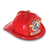 DELUXE Plastic Fire Hats - Firefighter Silver Maltese Design (Custom)