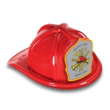 DELUXE Plastic Fire Hats - Fire Hat Maltese Gray Shield Design (Custom)