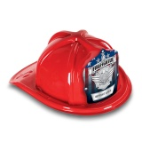 DELUXE Fire Hats - Jr. Firefighter Silver Maltese Design (Custom)