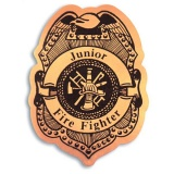 Stick-On Junior Firefighter Badges (Stock)