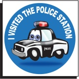 Police Car Temporary Tattoo (Stock)