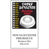 Smoke Alarm Flexible Magnets (Custom)