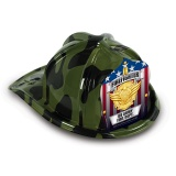 DELUXE Fun Fire Hats - Camouflage Jr. Firefighter (Custom)