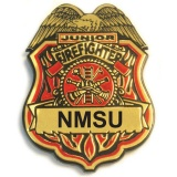 Clip-On Junior Firefighter Plastic Badges (Custom)