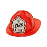 MINIATURE Fire Hats - RED - Fire Chief Shield (Stock)