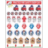 Fire Safety Mini-Sticker Sheet (Stock)