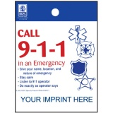 """Call 9-1-1 in an Emergency"" Litter Bags (Custom)"