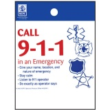 """Call 9-1-1 in an Emergency"" Litter Bags (Stock)"