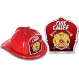 DELUXE Fire Hats - Fire Chief Red Design (Stock)