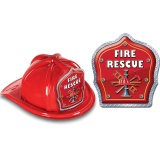DELUXE Fire Hats - Fire Rescue Design (Stock)