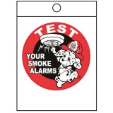 """Test Your Smoke Alarms"" Litter Bags (Stock)"