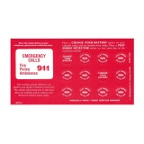 Smoke Detector Calendar Reminder Stickers (Stock)