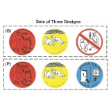 2'' Safety Stickers - 3 Designs Per Roll (Stock)
