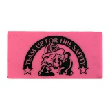 """TEAM UP FOR FIRE SAFETY"" Erasers (Stock)"
