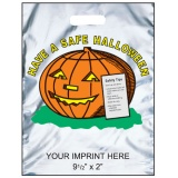 "Trick or Treat Halloween Bags 11""x15"" Reflective Silver (Custom)"