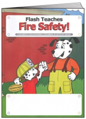 """Flash Teaches Fire Safety"" Coloring & Activity Books (Stock)"