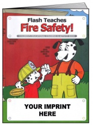 """Flash Teaches Fire Safety"" Coloring & Activity Books (Custom)"