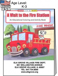 """A Visit to the Fire Station"" Coloring Books (Custom)"