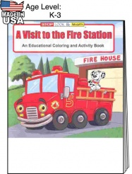"""A Visit to the Fire Station"" Coloring Books (Stock)"