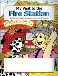 """My Visit to the Fire Station"" Coloring & Activity Books (Stock)"
