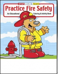"""Practice Fire Safety"" Coloring Books (Stock)"