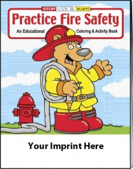 """Practice Fire Safety"" Coloring Books - Spanish (Custom)"