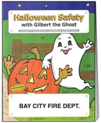 """Halloween Safety"" Coloring Books (Custom)"
