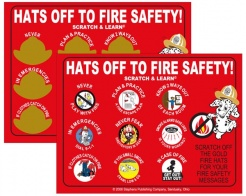 "Scratch Offs ""Hats Off To Fire Safety"" (Stock)"