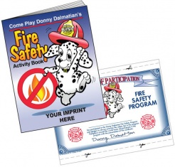 """Fire Safety"" Coloring & Activity Books (Custom)"