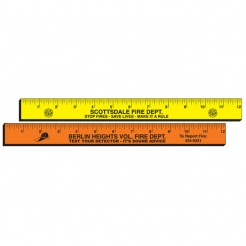 "12"" Fluorescent Wood Rulers (Custom)"
