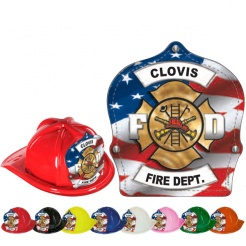 DELUXE Fire Hats - Patriotic Design (Custom)