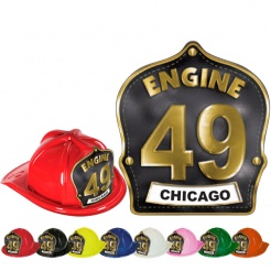 DELUXE Fire Hats - Engine Design (Custom)