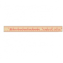 "12"" Economy Natural Wood Rulers (Custom)"