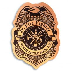 Stick-On Junior Firefighter Badges (Custom)