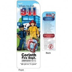 """When To Call 911"" Bookmarks (Custom)"